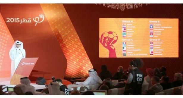 قرعة بطولة العالم الرابعة والعشرون لكرة اليد للرجال