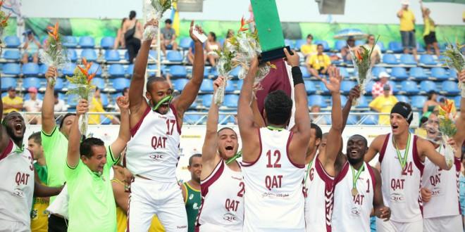 قطر تفوز بالميدالية البرونزية في بطولة العالم لكرة اليد الشاطئية